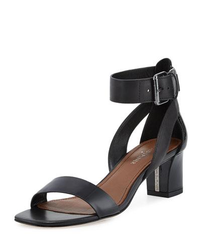 Farah Patent/Leather City Sandal, Black