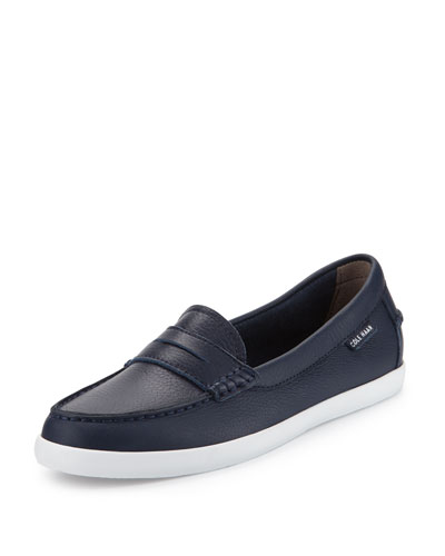 Nantucket Leather Loafer, Peacoat
