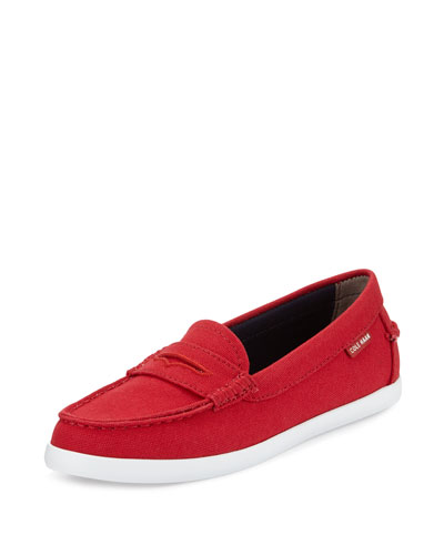 Nantucket Canvas Loafer, Red