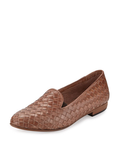Nader Woven Leather Loafer, Natural