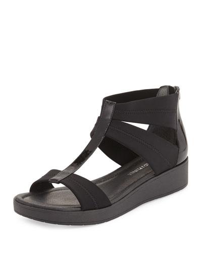 Voni Strappy Comfort Casual Sandal, Black