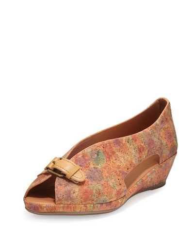 Lanner Cutout Cork Flat, Natural Floral