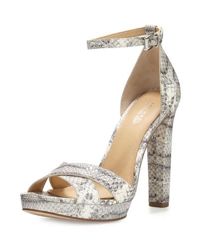 Diva Crisscross Ankle-Strap Sandal, Roccia