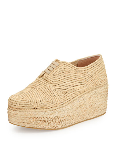 Pinto Flatform Lace-Up Shoe, Natural