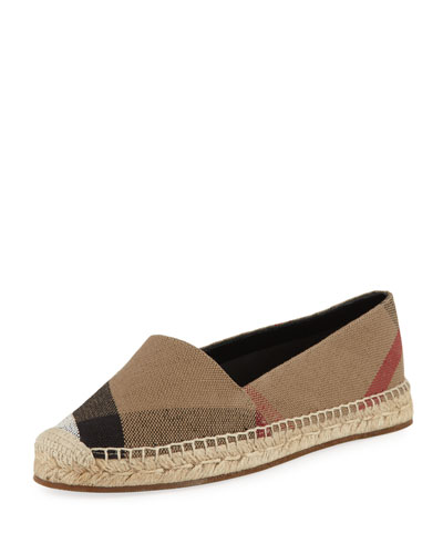 Hodgeson Check Espadrille Flat
