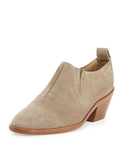 Thompson Suede Bootie, Warm Gray