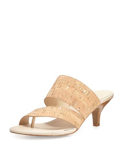 Ruge Asymmetric Slide Thong Sandal, Platino