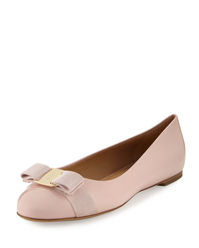 Varina Patent Bow Ballerina Flat, Bon Bon