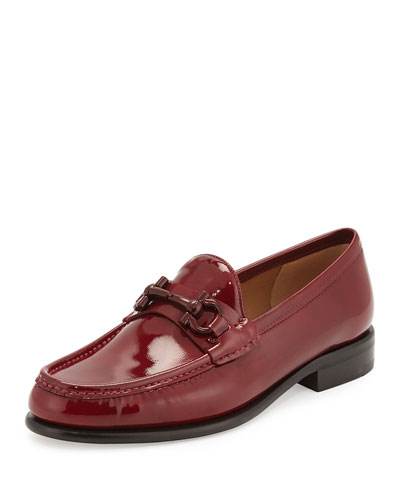 Mason Patent Leather Loafer, Opera Red