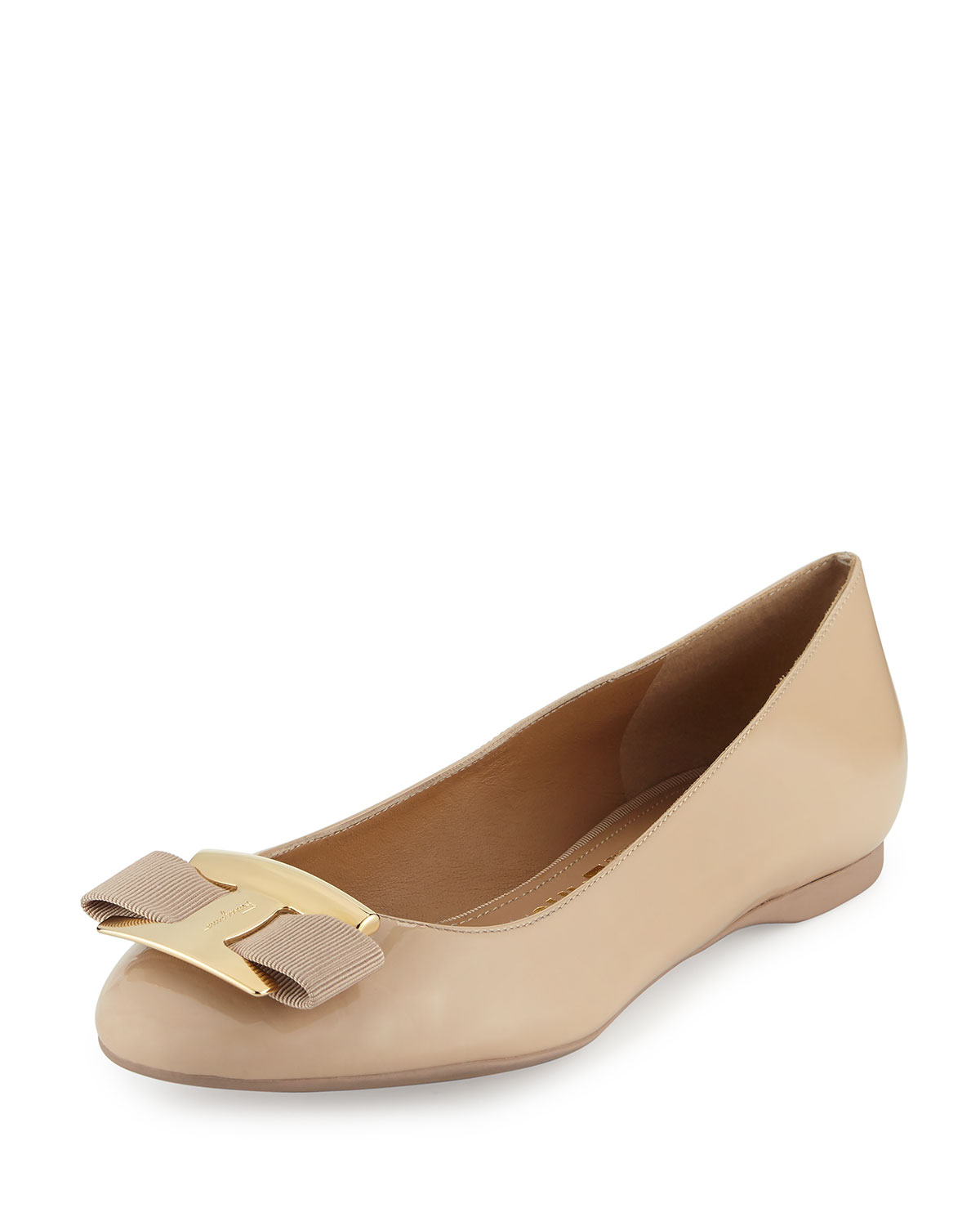 Leather Bow Flat, New Bisque