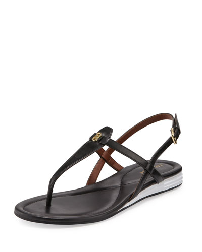 Violette II Leather T-Strap Sandal, Black