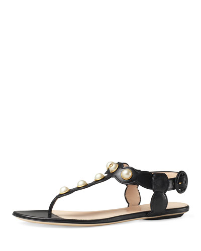 Willow Pearly Thong Sandal, Black