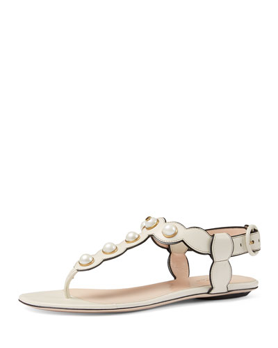 Willow Pearly Thong Sandal, White