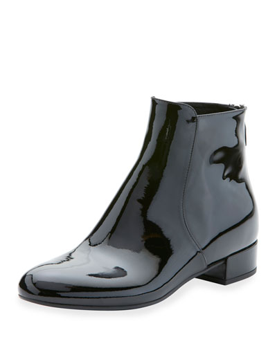 Black Patent Leather Ankle Boots | Neiman Marcus