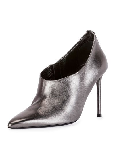 Pointed-Back 105mm Bootie, Gunmetal