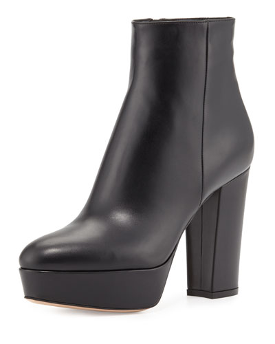 Leather Platform Ankle Boots | Neiman Marcus