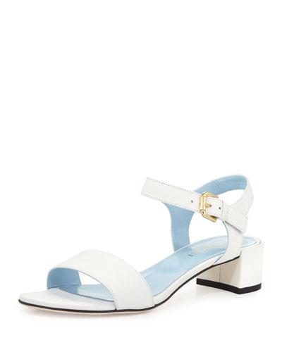 Cadi Leather City Sandal, White
