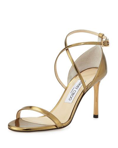 Hesper Strappy 85mm Sandal, Light Honey