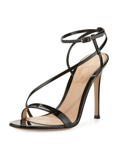 Carlyle Patent Strappy 105mm Sandal, Black