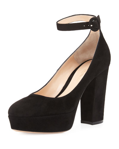 Sherry Suede Platform Pump, Black