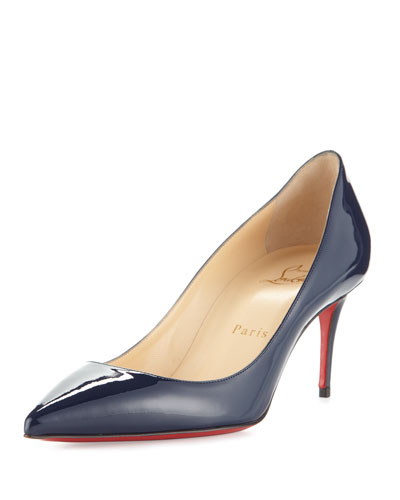 Decollete Patent 70mm Red Sole Pump, Night
