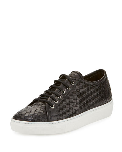 Nace Woven Lace-Up Sneaker, Black