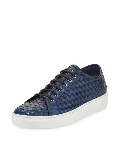 Nace Woven Lace-Up Sneaker, Navy