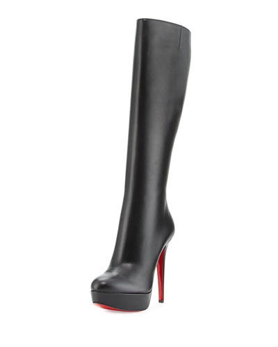 Bianca Botta 140mm Red Sole Knee Boot, Black