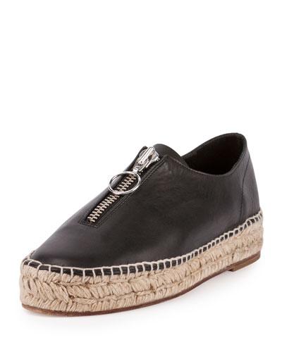 Devon Zip Espadrille Sneaker, Black