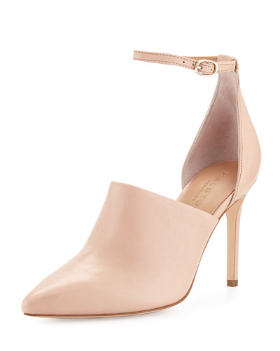 Chloe Leather d'Orsay Pump, Quartz Pink