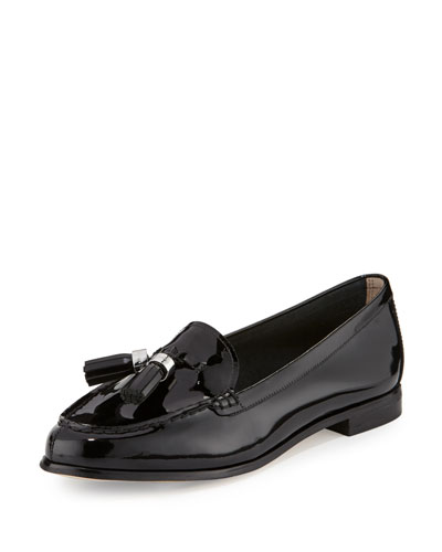 Callahan Patent Tassel Loafer, Black
