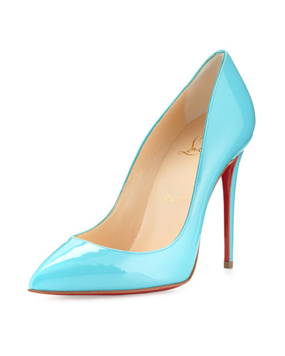 Pigalles Follies Patent Red Sole Pump, Turquoise