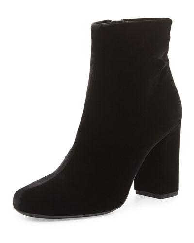 Babies Velvet 90mm Ankle Boot, Black (Nero)