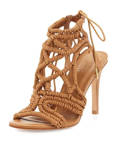 Aria Woven Strappy Sandal, Cuoio