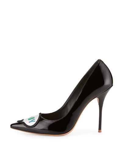 Boss Lady Patent Leather Pump, Black