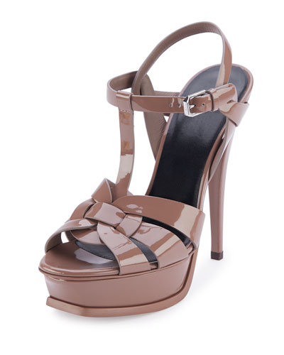 Tribute Patent 135mm Platform Sandal, Fard