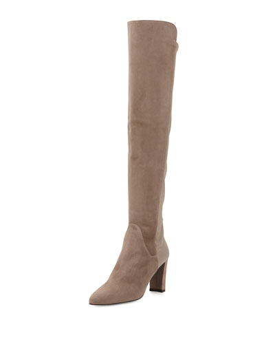Fiftymimi Suede Over-The-Knee Boot, Otter