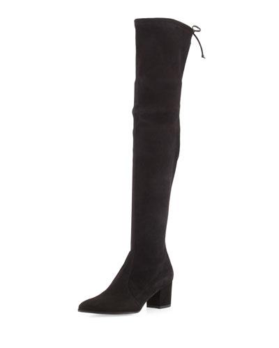 Thighland Suede Over-The-Knee Boot, Black