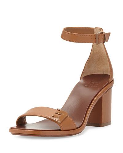 Gabrielle Leather City Sandal, Royal Tan