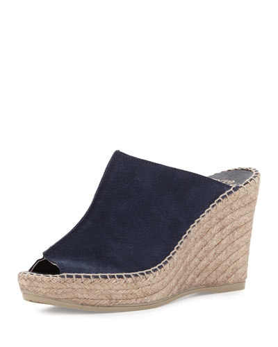 Andr?? AssousCici Suede Espadrille Wedge Mule, Navy