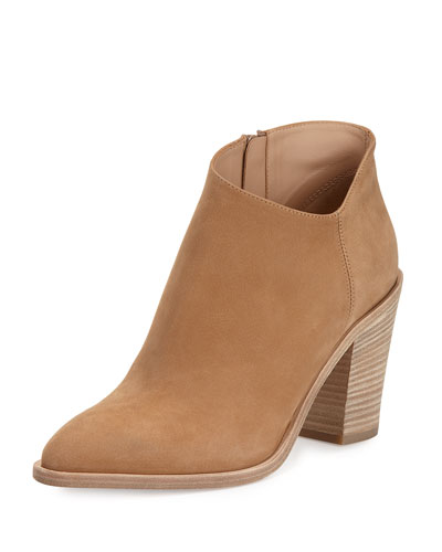 Easton Asymmetric Nubuck 85mm Bootie, Sand