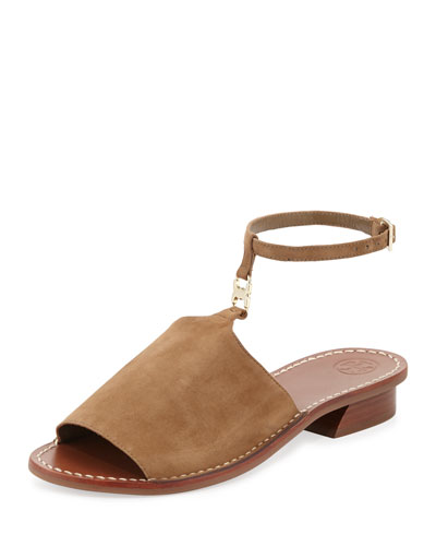 Gemini Link Ankle-Wrap Sandal, River Rock