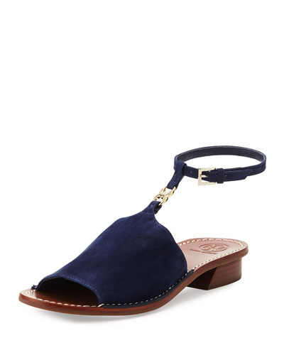 Gemini Link Ankle-Wrap Sandal, Royal Navy