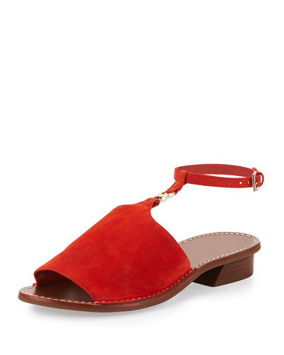 Gemini Link Ankle-Wrap Sandal, Red Canyon
