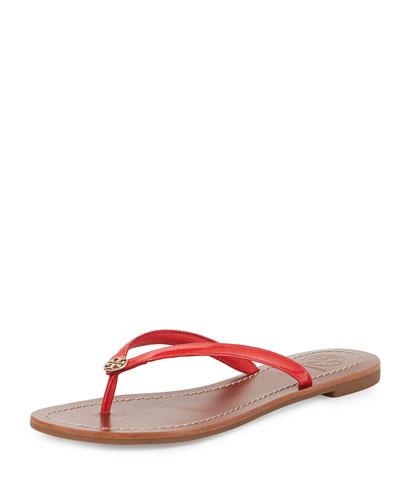 Terra Patent Thong Sandal, Vermillion