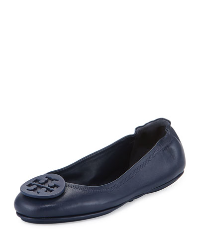 Minnie Travel Logo Ballerina Flat, Royal Navy