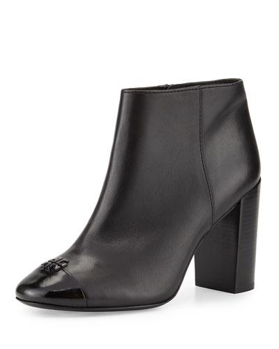 Jolie Leather 85mm Bootie, Black
