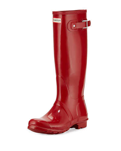 Original Tall Gloss Rain Boot, Red