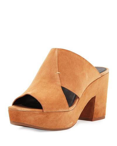 Jordan Suede Slide Sandal, Butterscotch