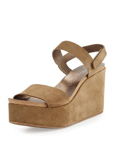 Dulce Suede Wedge Sandal, Dune